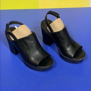 H&M Divided Black Platform Heels 36